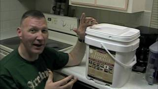 Emergency Rations: 1 Month Supply Food Bucket Unboxing (and blooper reel) ;)