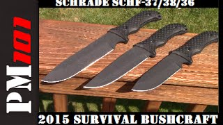 Schrade 2015 Bushcraft Survival Knife Lineup: First Ever Unboxing!!